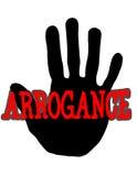 Arroganza di Handprint Fotografia Stock Libera da Diritti