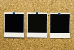 Arrolhe o fundo com espaços em branco vazios do polaroid Foto de Stock