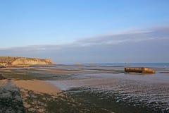 Arromanches Beach, France Stock Photo