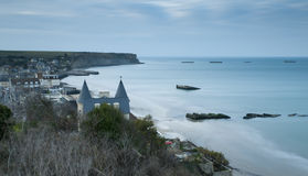 Arromanches en Normandie Photo stock