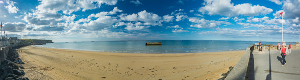 Arromanches-les-bains in Normandy Stock Photo