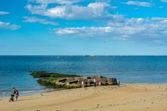 Arromanches-les-bains in Normandy Royalty Free Stock Photo