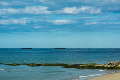 Arromanches-les-bains in Normandy Stock Photography