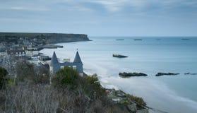 Arromanches in Normandië Stock Foto