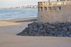 arromanches seawall Στοκ φωτογραφία με δικαίωμα ελεύθερης χρήσης