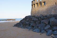 arromanches seawall Στοκ Εικόνες