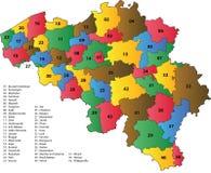 Arrondissements van België royalty-vrije illustratie