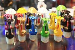Arroseuses de différentes couleurs Photographie stock libre de droits