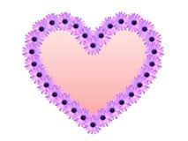 Arrosez la baisse sur la fleur dans la forme de coeur Photos stock