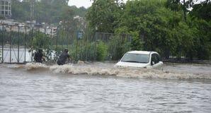 Arrosez la notation due à la forte pluie à Bhopal, photographie stock libre de droits