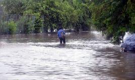 Arrosez la notation due à la forte pluie à Bhopal, photographie stock