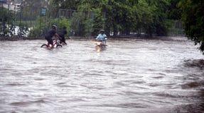 Arrosez la notation due à la forte pluie à Bhopal, images libres de droits