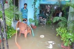 Arrosez la notation due à la forte pluie à Bhopal, photo stock
