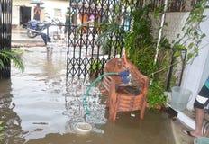 Arrosez la notation due à la forte pluie à Bhopal, photos libres de droits