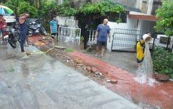 Arrosez la notation due à la forte pluie à Bhopal, image stock