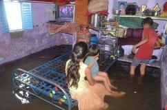 Arrosez la notation due à la forte pluie à Bhopal, images stock