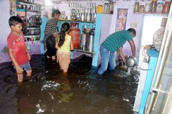 Arrosez la notation due à la forte pluie à Bhopal, photo libre de droits