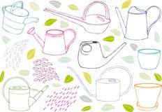 Arrosoirs illustration stock