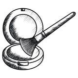 Arrossisca e spazzoli per comporre l'icona di disegno illustrazione vettoriale