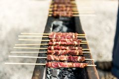 Arrosticini Stock Photo