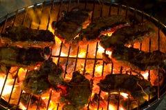 Arrostisca col barbecue la bistecca di lombata cotta Fotografia Stock Libera da Diritti
