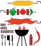 Arrostisca col barbecue la griglia Immagini Stock Libere da Diritti