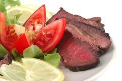 Arrostisca la carne servita Fotografia Stock Libera da Diritti
