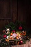 Arrosto aromatico del tacchino in marinata ed in alloro piccanti Fotografia Stock Libera da Diritti