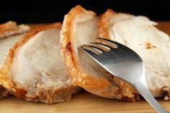 Arrosto di carne di maiale Fotografia Stock