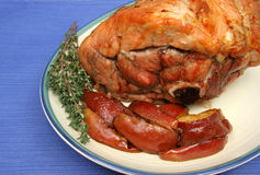 Arrosto di maiale con le patate Fotografia Stock Libera da Diritti