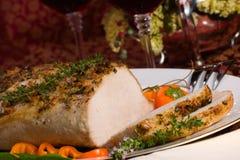 Arrosto di maiale del timo dell'aglio Fotografia Stock Libera da Diritti