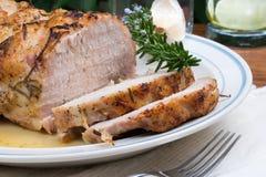 Arrosto di maiale della Rosemary dell'aglio Immagine Stock Libera da Diritti