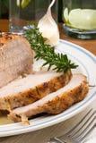 Arrosto di maiale della Rosemary dell'aglio Immagini Stock