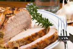 Arrosto di maiale della Rosemary dell'aglio Fotografie Stock Libere da Diritti