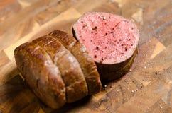 Arrosto di manzo della bistecca Fotografie Stock