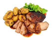 Arrosto Duck Meat Meal fotografie stock