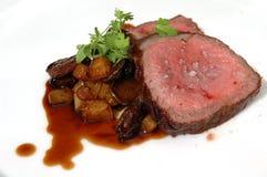 Arrosto e patate Immagini Stock