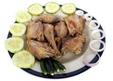 Arrosto indiano del pollo sul piatto Fotografia Stock