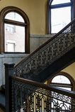 Arrott大厦-半圆螺旋大理石楼梯-街市匹兹堡,宾夕法尼亚 免版税库存图片