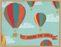 arround飞行世界 免版税图库摄影