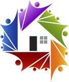 Arround el hogar stock de ilustración