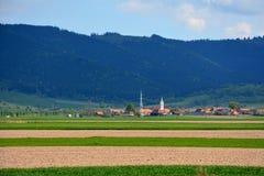 Arround Tusnad, la Transilvania del paesaggio Fotografie Stock Libere da Diritti