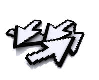Arrow. Computer arrows in 3d placement Royalty Free Stock Photos