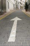 Arrow. In a strret in Malaga Royalty Free Stock Photo