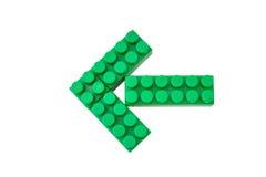 Arrow. Lego isolated on a white background (preparation Royalty Free Stock Photos