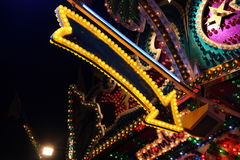 Arrow. A carnival arrow in yellow royalty free stock photo