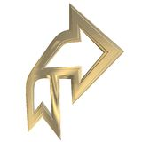 Arrow. 3D illustration royalty free illustration
