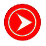 Arrow. Red arrow for various design Royalty Free Stock Photo