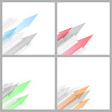Arrow abstract background collection template Royalty Free Stock Photos
