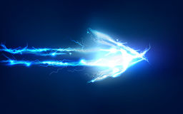 Arrow, Abstract background made of Electric lighting effect Stock Photos